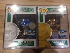 Stan Lee Signed Silver And Gold Metallic Chrome Funko Pop LTD To 10 Holy Grail