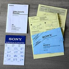 Bedienungsanleitung SONY Video Recorder SLV E430, SLV E285, SLV E230 + Extras!!
