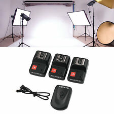 PT-04 GY 4 Channels Wireless/Radio Flash Trigger SET with 3 Receivers LS