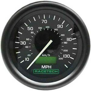 Racetech 80mm Electronic speedo/Speedometer 0-130 MPH Ideal for Kit Cars