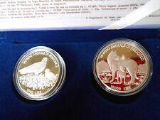 DITTICO 5.000 - 10.000 LIRE 1996 PROOF ARGENTO 835/1000 REPUBBLICA DI SAN MARINO
