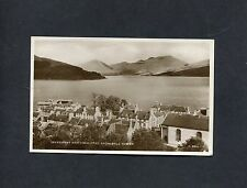 Postcard: View of Inveraray & Loch Fyned from Bell Tower, Scotland c1960's