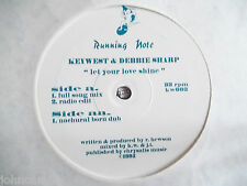 """KEY WEST & DEBBIE SHARP - LET YOUR LOVE SHINE 12"""" RECORD - RUNNING NOTE - KW-003"""
