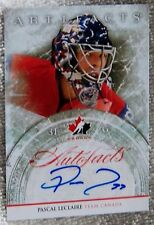 Columbus Blue Jackets Pascal Leclaire Signed 12/13 Artifacts Team Canada Auto