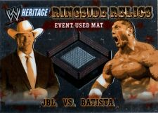 WWE Batista & JBL 2006 Topps Heritage Chrome Relic Event Used Mat Card FD
