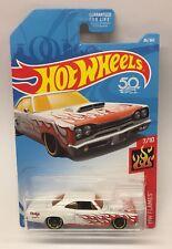 Hot Wheels '69 Dodge Coronet Superbee 1969 7/10 HW Flames D Case Die Cast Car