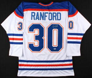 Bill Ranford Signed Edmonton Oilers Jersey (Beckett COA)Playing career 1985–2000