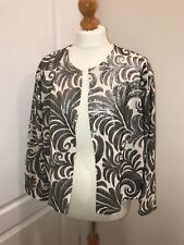NEW Dorothy Perkins embellished silver and cream jacket M