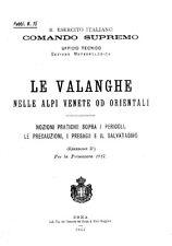 ESERCITO ITALIA - Valanghe Alpi Venete od Orientali 1917 3a Ed (15) Manual - DVD