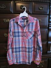 NWT Womens Aeropostale Long sleeve Plaid Blouse Shirt S
