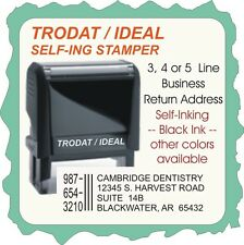 Business Address, w/ iphone no., Trodat/Ideal 4900 Series Rubber self ink Stamp