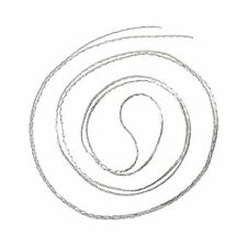 20m feine Gliederkette/Schmuckkette, silberfarben, 0,6 x 0,7 mm