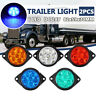 2x 24V 6 LED Trailer Side Clearance Marker Lights Truck Caravan Indicator Lamps