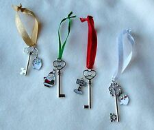 SILVER SANTA'S MAGIC KEY - for houses without a Chimney - Hand Made