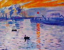 """Claude Monet  Repro  Oil Painting on canvas    - Levar Del Sole - size 36""""x28"""""""