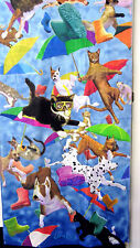 Raining Cats & Dogs Terry Velour Beach Bath Towel 30x60