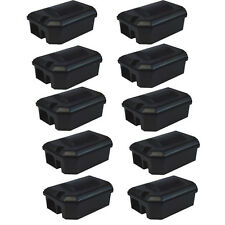 10 PROFESSIONAL RODENT BAIT STATION BOX ONLY for traps & Poison Rat Mouse Mice