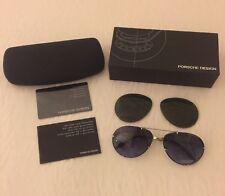 Porsche Design Aviator Sunglasses P1002 C 57mm With Extra Set/Pair Of Lenses