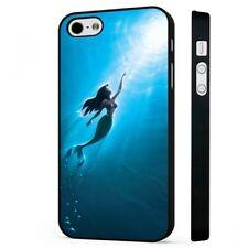 Ariel The Little Mermaid Ocean Disney BLACK PHONE CASE COVER fits iPHONE