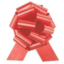 "12 PULL BOWS 5 1/2"" Christmas *Shimmery Satin* RED XMAS  GIFT WRAP BOW FREE SHIP"