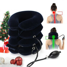 4 Layer Inflatable Pillow Neck Support Neck Headache Pain Traction Support