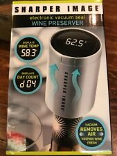 NEW Sharper Image Electronic Vacuum Seal Wine Preserver. Bar Drinks Great Gift