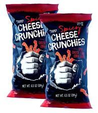 2 Packs Trader Joe's Spicy Cheese Crunchies Corn Snacks 6.5 OZ/Pack