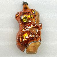 Antiker Russen Alter Christbaumschmuck  Glas Weihnachtsschmuck Teddybär