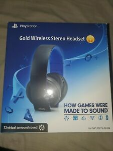 Used playstation Gold Wireless Stereo Headset