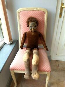 "Rare Norah Wellings Islander Black Doll. 36"" ( 92cm ) tall. Spares or Repairs"