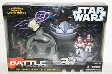NEW STAR WARS BATTLE PACKS SKIRMISH AT THE SENATE FIGURE SET YODA VS PALPATINE