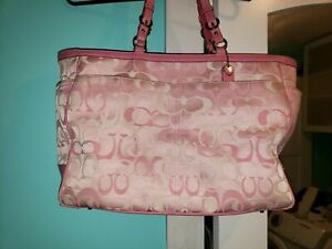 COACH diaper bag tote Pink