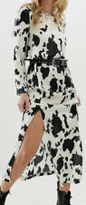 Asos Maxi Dress, Cowl Back In Cow Animal Print. Size 10