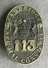 OBSOLETE CAMBRIDGE SPECIAL CONSTABLE POLICE CAP BADGE EMBLEM
