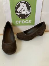 Crocs Lydia Wedge Heel Slip On Shoes Size UK 5 EU 38 in excellent condition