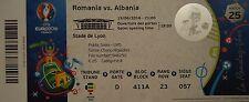 mint TICKET 19.6.2016 Romania Rumänien - Albania Albanien Match 25