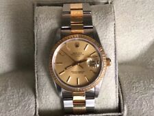 Mens Rolex 36mm Date Just Bi-metal 18ct Gold Stainless Steel
