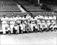 1954 Brooklyn Dodgers Photo 8X10 Robinson Hodges Campanella Alston Snider Ebbets