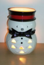 Cute Ceramic Christmas Snowman Novelty Tea Light Holder
