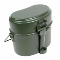 3in1 Army Military Mess Kit Lunch Box Outdoor Canteen Kettle Pot Food Cup Bowl