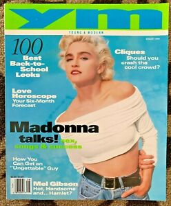 Madonna on USA YM Magazine, Young & Modern, August 1990, Madonna Talks !