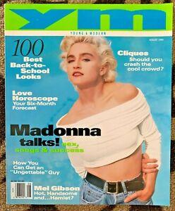 Madonna on USA YM Magazine, Young & Modern, August 1990, Madonna Talks !