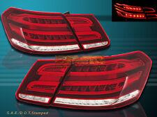2010 11 12 2013 Mercedes Benz E-Class Sedan 4 Door Red Clear LED Tail lights