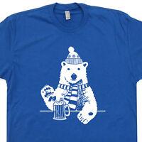 Polar Bear Beer T Shirt Vintage Skiing Ski Snowboard Alaska Colorado Wyoming Tee