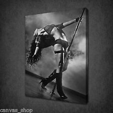 SEXY WOMEN POLE DANCING EROTIC NUDE WALL ART CANVAS PRINT PICTURE READY TO HANG