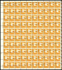 1735, Spectacular Misperforated Error Sheet of 100 Stamps Mint NH - Stuart Katz
