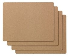 8 x IKEA Rectangle Cork Brown Table Placemats 42x32- Home Kitchen Dining Decor