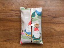 Handmade Packet Tissue Holder Case Made Using Cath Kidston Gnomes Fabric