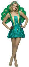 Peacock  Adult Women's  Costume Dress Bird Lightweight Fancy Dress Rasta Imposta