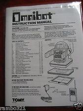 Tomy Omnibot Robot Manual - Tomy Omnibot 5402 1984 Professionally Printed Manual